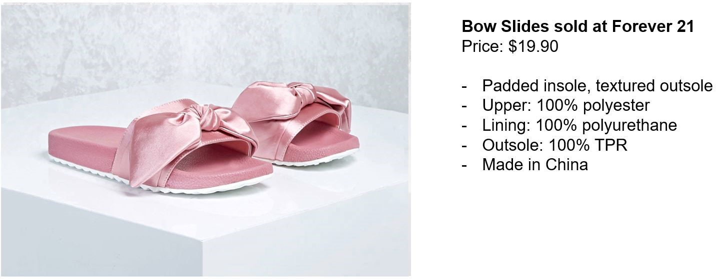bow slides forever 21