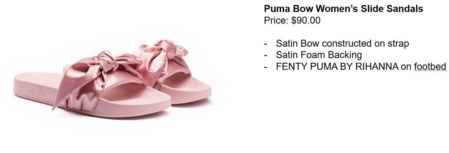 puma bow womens sandals